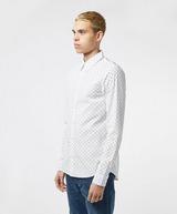 Calvin Klein Jeans All Over Logo Long Sleeve Slim Shirt