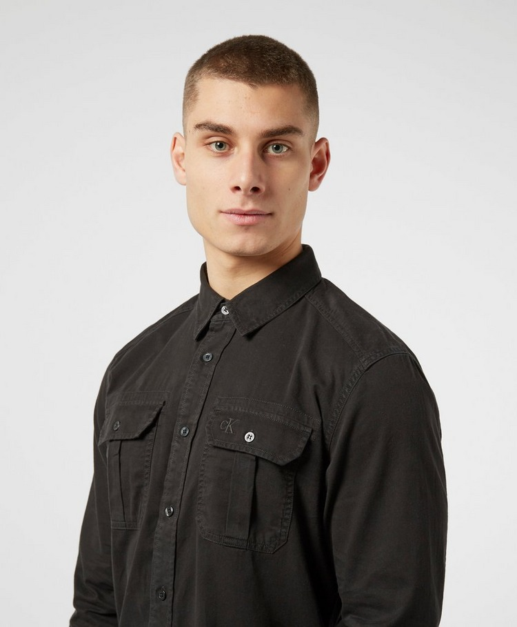 Calvin Klein Jeans Garment Dyed Twill Utility Shirt