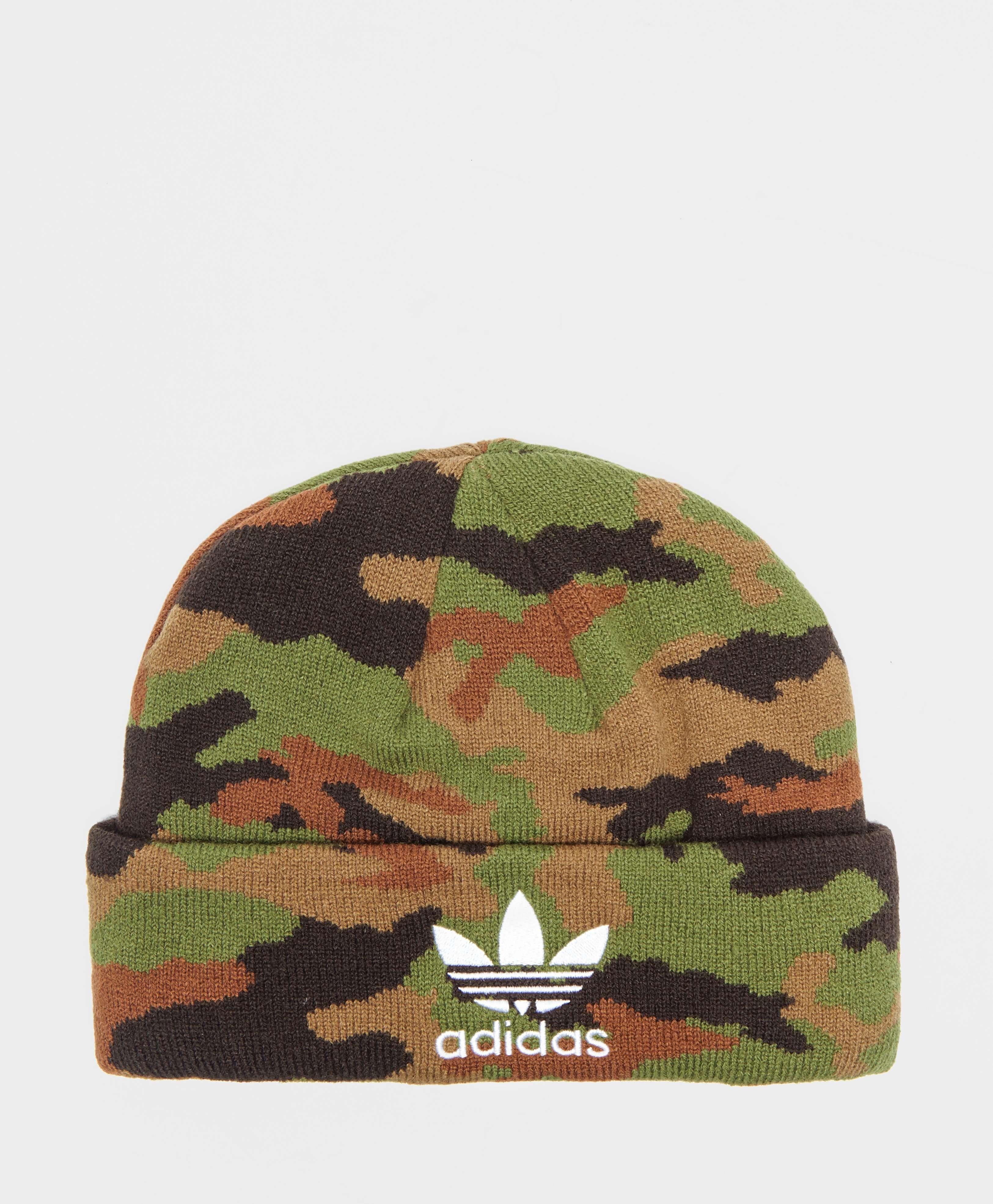46440042a adidas Originals Camouflage Beanie Hat | scotts Menswear