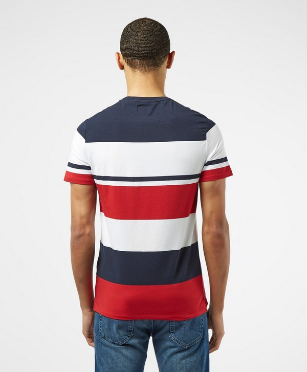 Guess Stripe Colour Block Short Sleeve T-Shirt