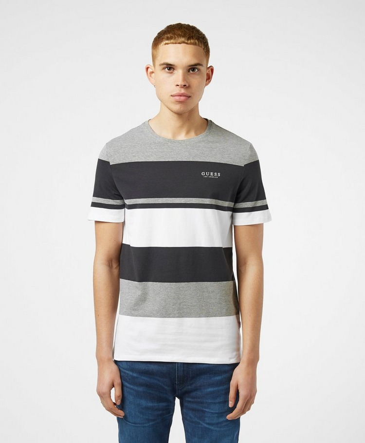 GUESS Colour Block Stripe Short Sleeve T-Shirt