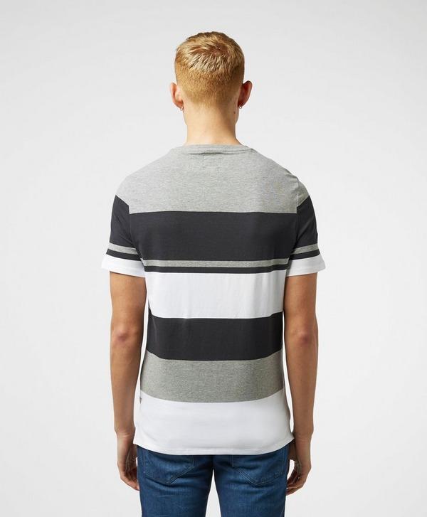 Guess Colour Block Stripe Short Sleeve T-Shirt