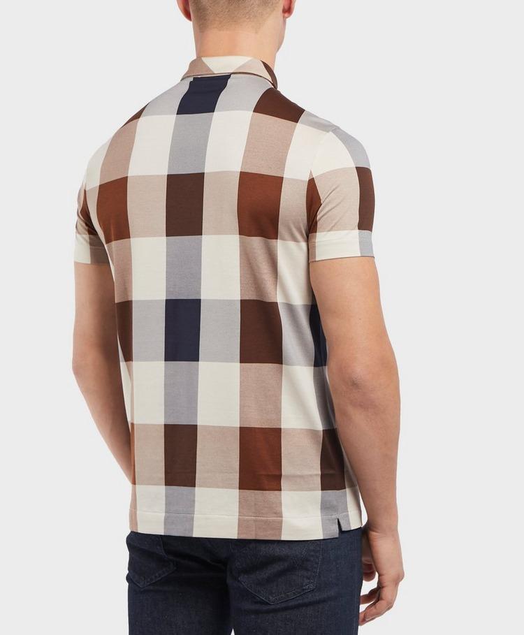 Aquascutum Large Club Check Short Sleeve Polo Shirt