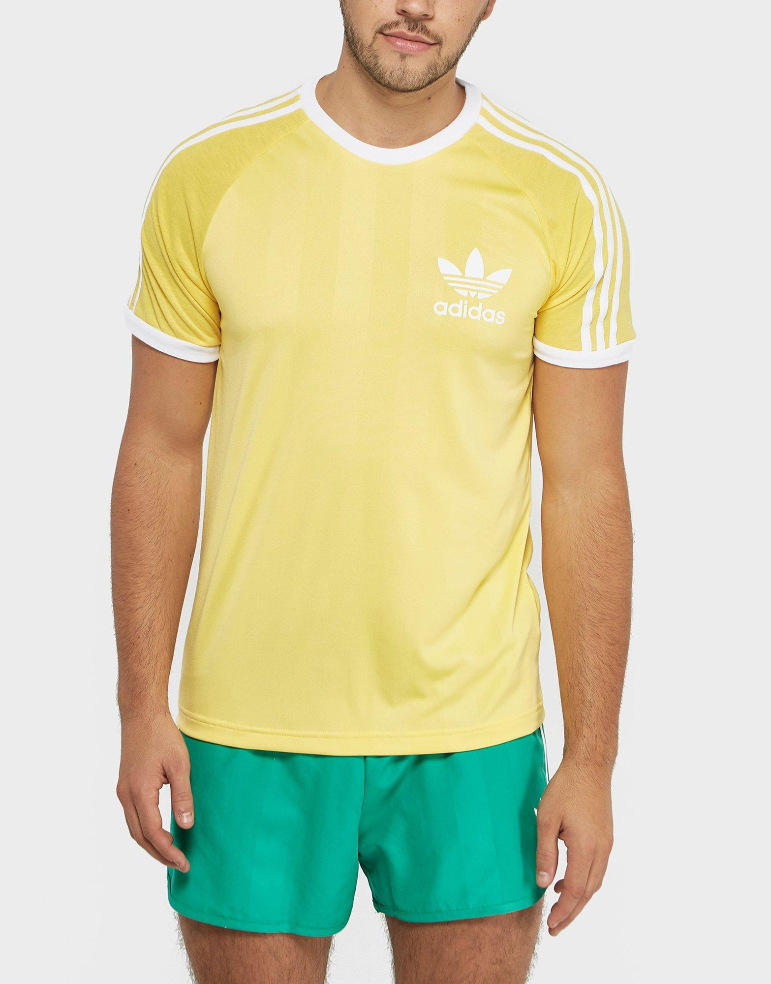 adidas originals california t shirt yellow