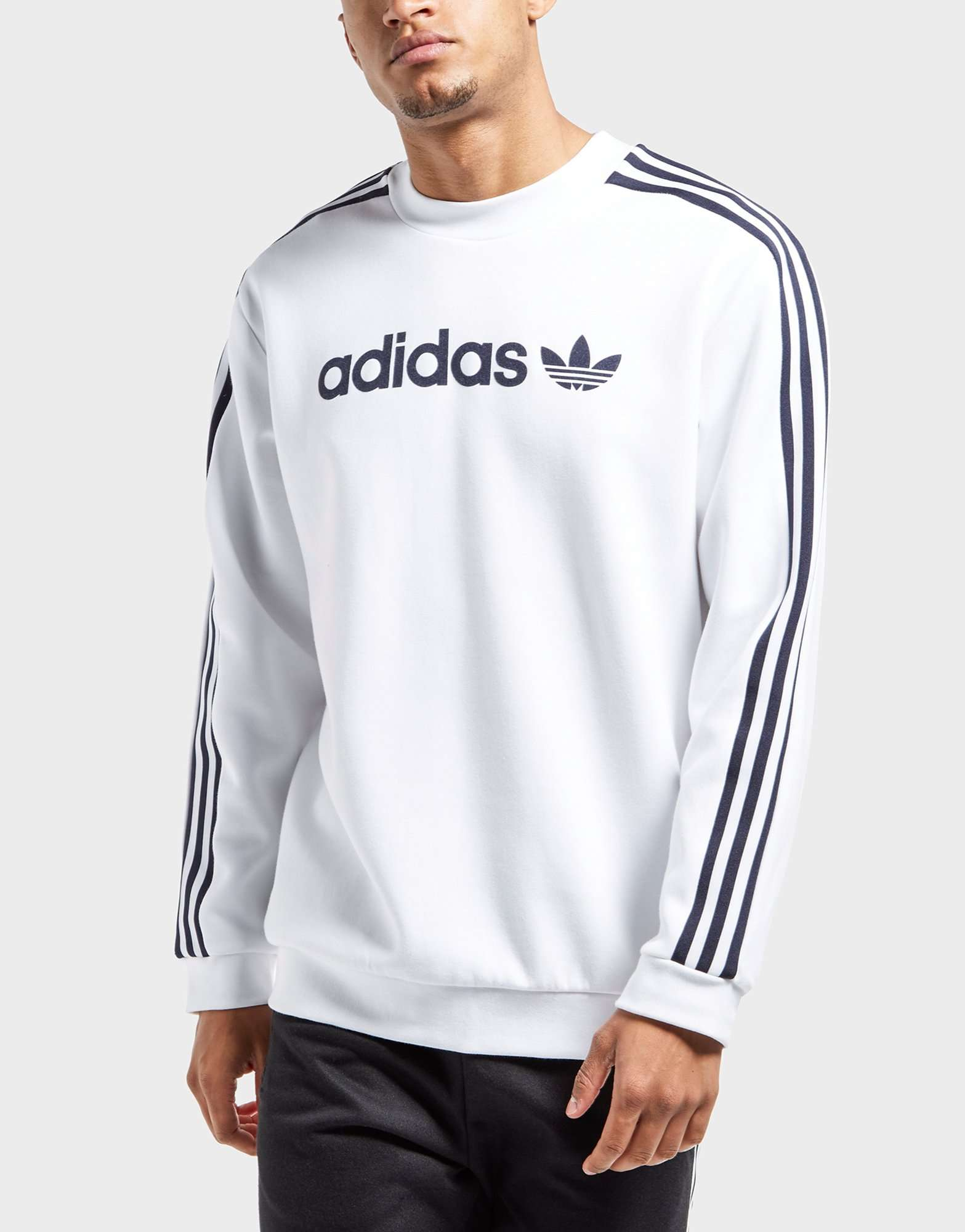 adidas linear trefoil sweatshirt