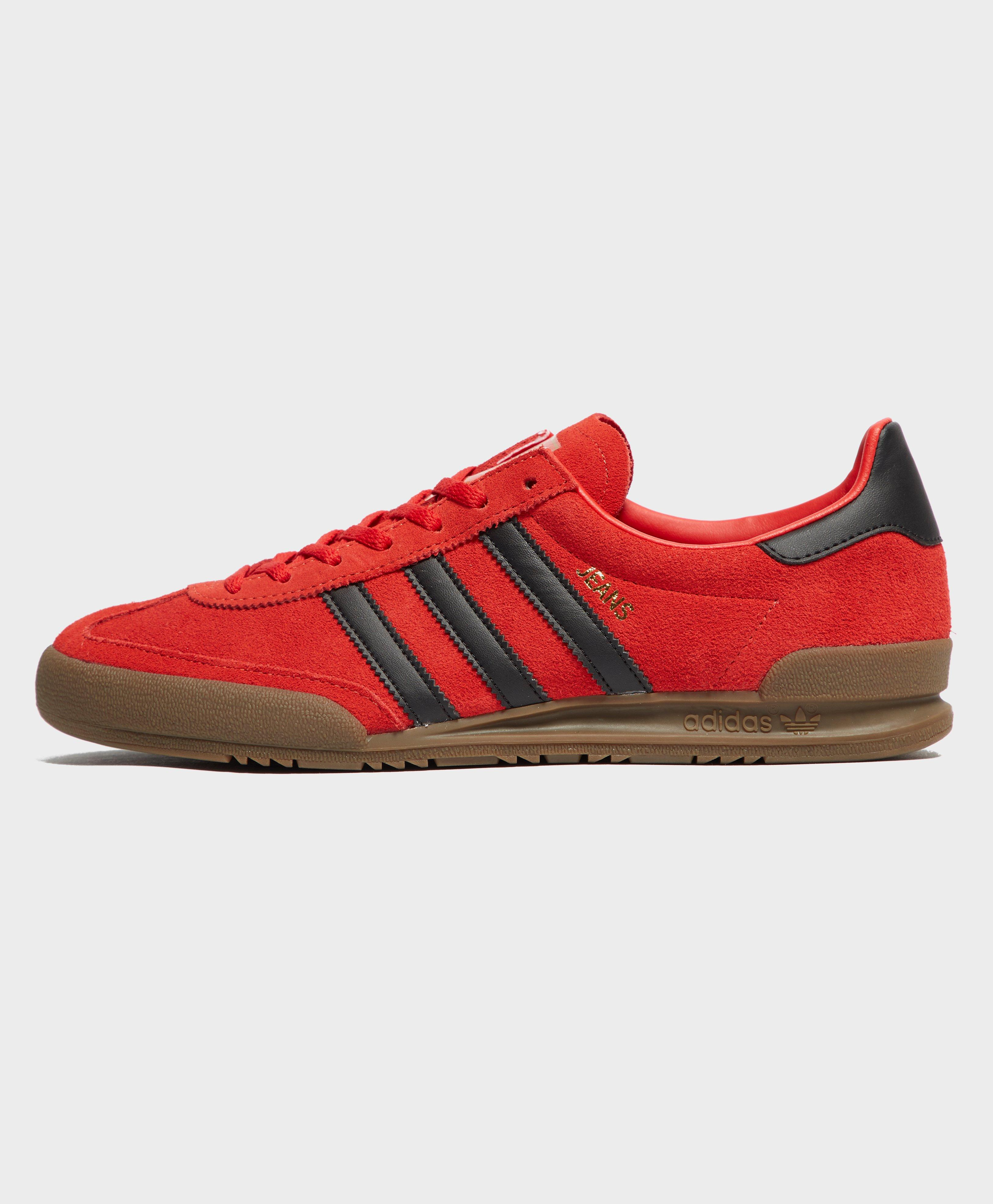 adidas jeans red