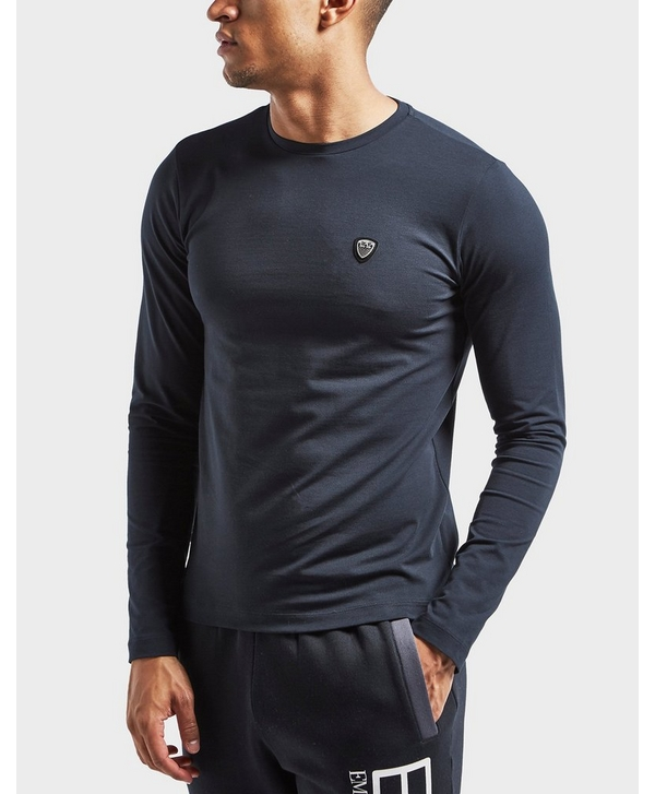 a72f5f8f Emporio Armani EA7 Shield Long Sleeve Crew T-Shirt | scotts Menswear