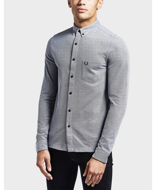 06c7f4bc Fred Perry Oxford Pique Long Sleeve Shirt | scotts Menswear