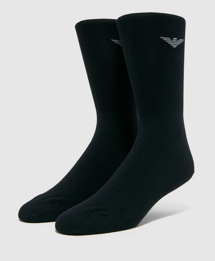 Emporio Armani Loungewear 2 Pack Eagle Socks