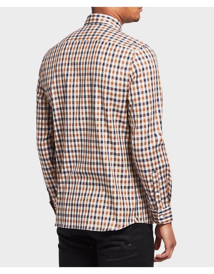 Aquascutum York Checked Long Sleeve Shirt