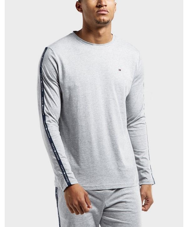 7e40bea6e Tommy Hilfiger Logo Tape Long Sleeve T-Shirt | scotts Menswear