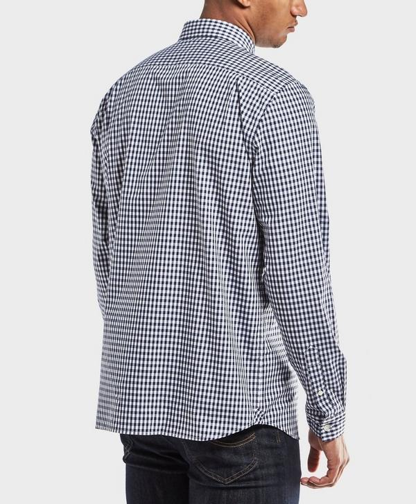 920fcc2a Lacoste Gingham Long Sleeve Shirt   scotts Menswear