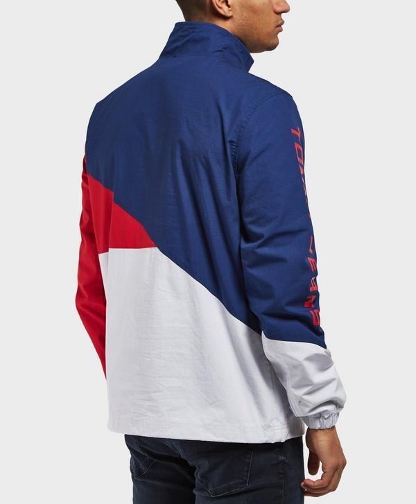 e01fdaa31 Tommy Jeans Retro Block Overhead Light Jacket | scotts Menswear