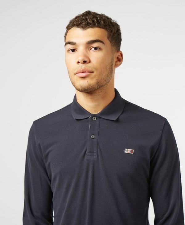 Napapijri Flag Logo Long Sleeve Polo Shirt
