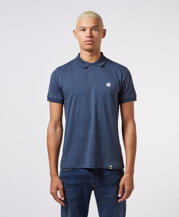 Pretty Green Polka Dot Short Sleeve Polo Shirt