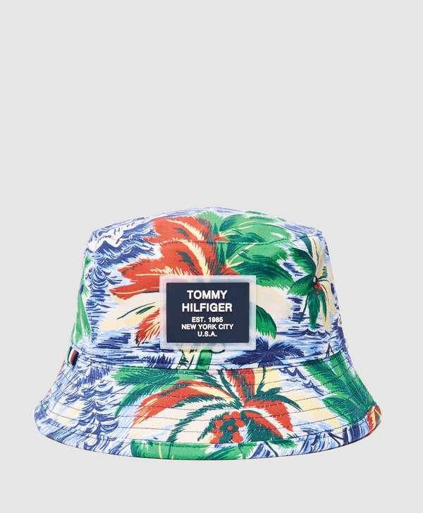 86618e339fc440 Tommy Hilfiger Reversible Tropical Bucket Hat | scotts Menswear