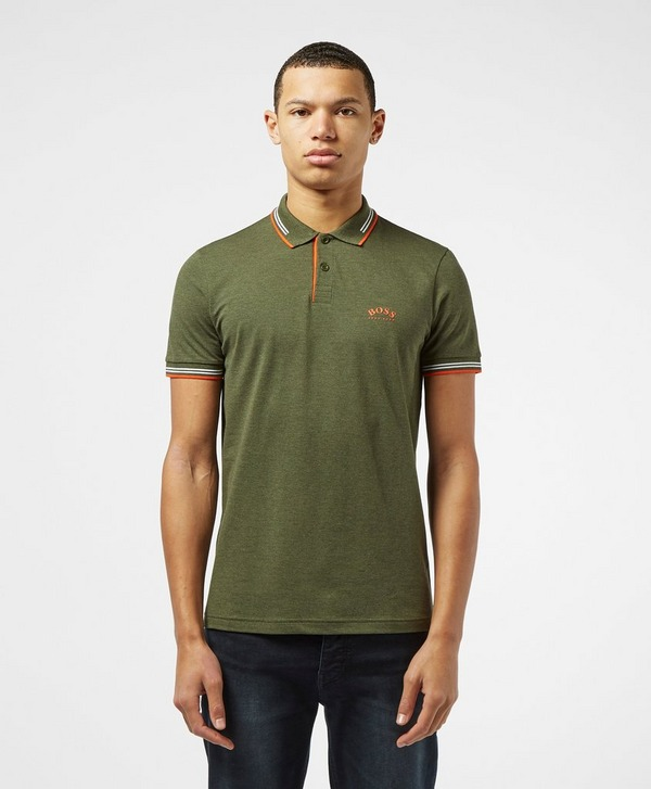 BOSS Curved Logo Short Sleeve Polo Shirt