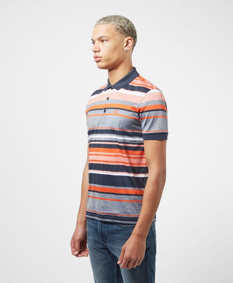 BOSS Paddy Multi Stripe Short Sleeve Polo Shirt
