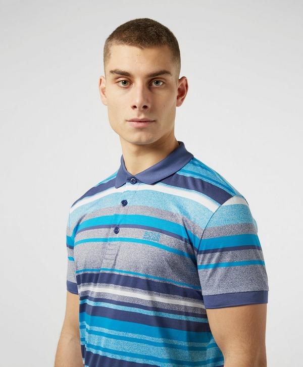BOSS Paddy Multi Stripe Short Sleeve Polo Shirt