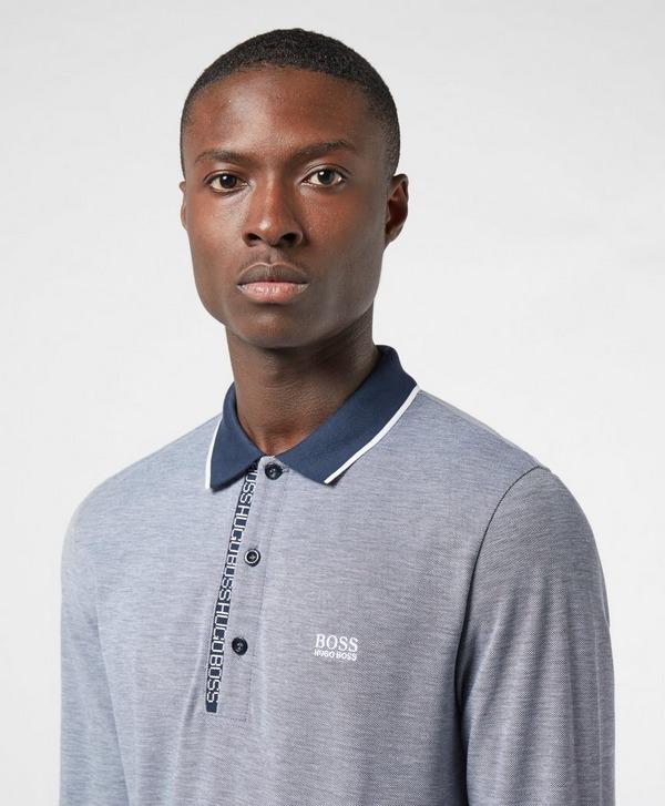 BOSS Pleesy 4 Long Sleeve Tipped Polo Shirt