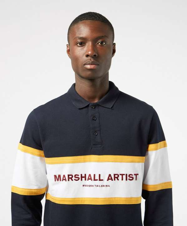 Marshall Artist Crown Heights Long Sleeve Polo Shirt