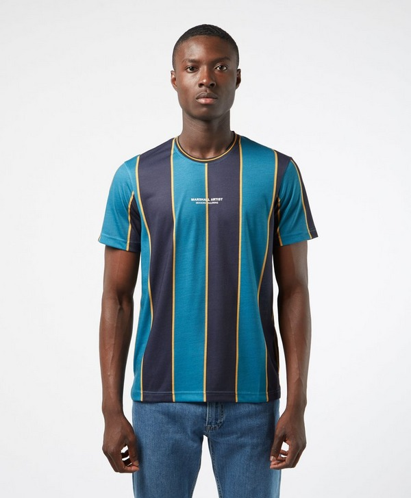 Marshall Artist Vertical Stripe Short Sleeve T-Shirt