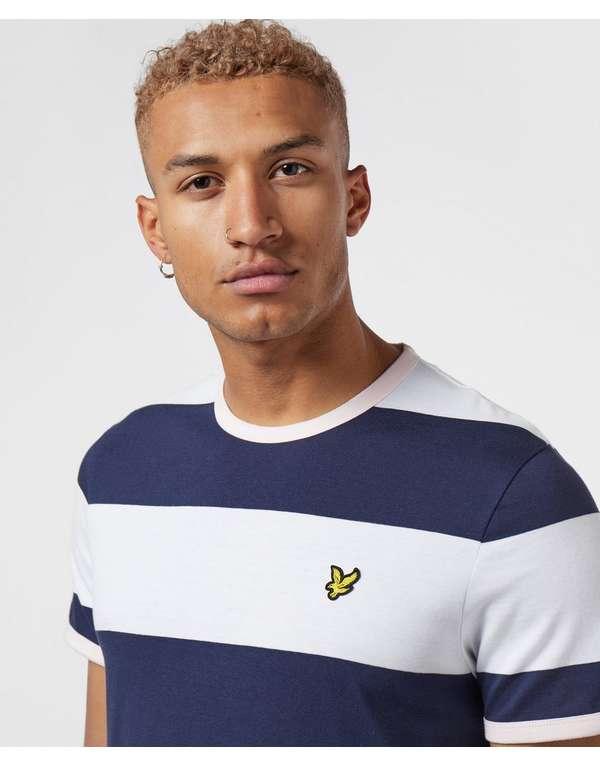 Lyle & Scott Bloc Stripe Short Sleeve Ringer T-Shirt
