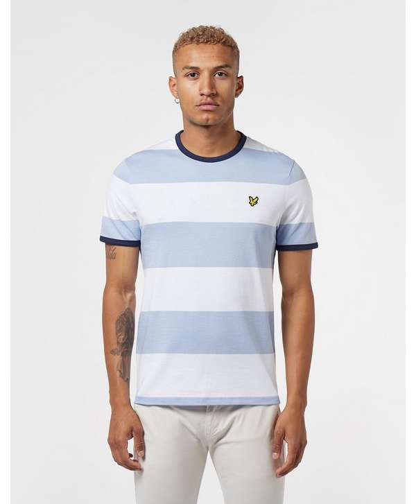 Lyle & Scott Bloc Stripe Short Sleeve Ringer T-Shirt
