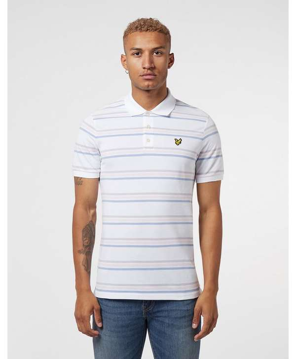 Lyle & Scott Fine Stripe Short Sleeve Polo Shirt