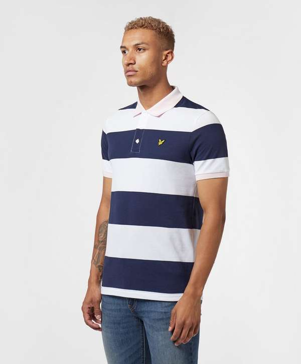 Lyle & Scott Block Stripe Short Sleeve Polo Shirt
