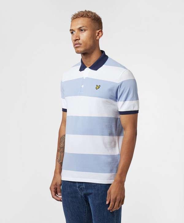 Lyle & Scott Block Stripe Short Sleeve Polo Shirt