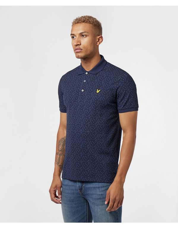 Lyle & Scott Print Short Sleeve Polo Shirt