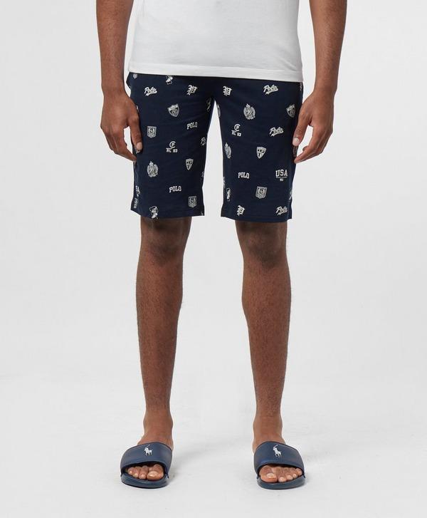Polo Ralph Lauren Underwear All Over Crest Fleece Shorts