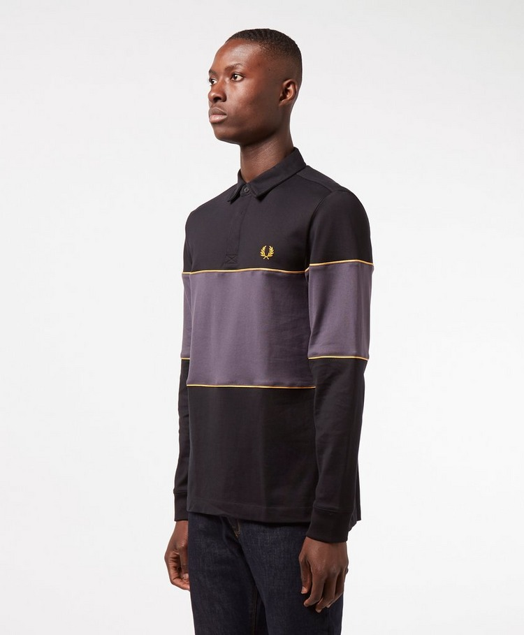 Fred Perry Panel Long Sleeve Polo Shirt