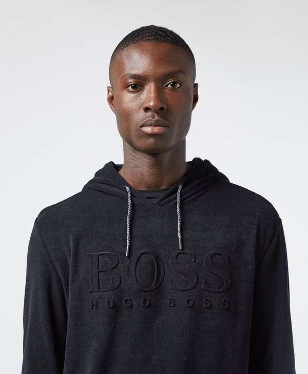 BOSS Logo Overhead Towelling Hoodie