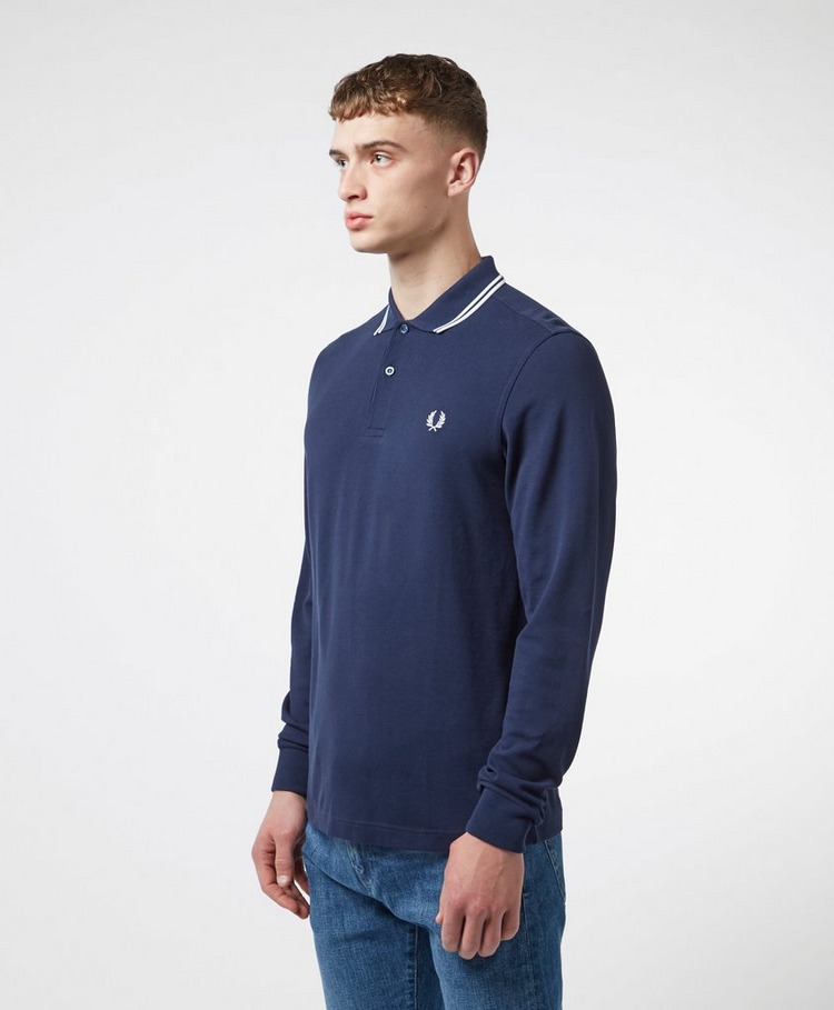 Fred Perry Twin Tip Long Sleeve Polo Shirt