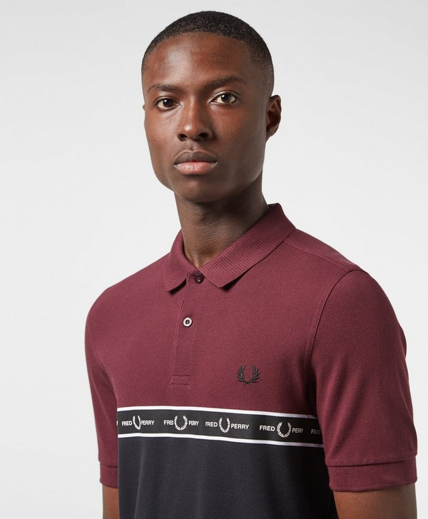 Fred Perry Chest Tape Short Sleeve Polo Shirt