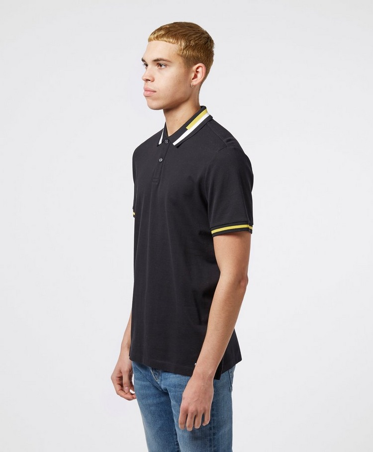 Michael Kors Stripe Collar Short Sleeve Polo Shirt