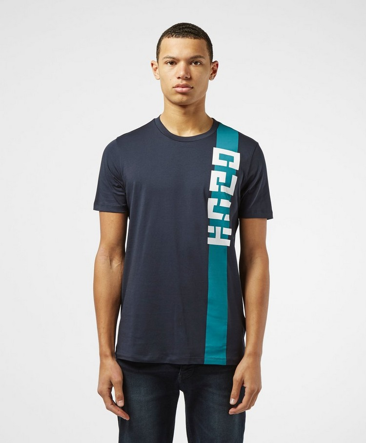 HUGO Logo Stripe Short Sleeve T-Shirt