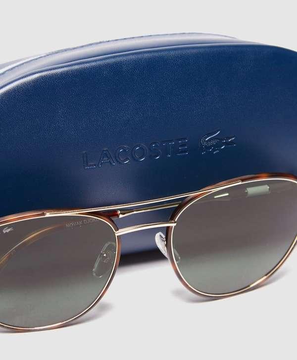 Lacoste Green Lense Aviator Sunglasses