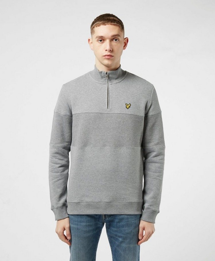 Lyle & Scott Contrast Panel Half Zip Sweat