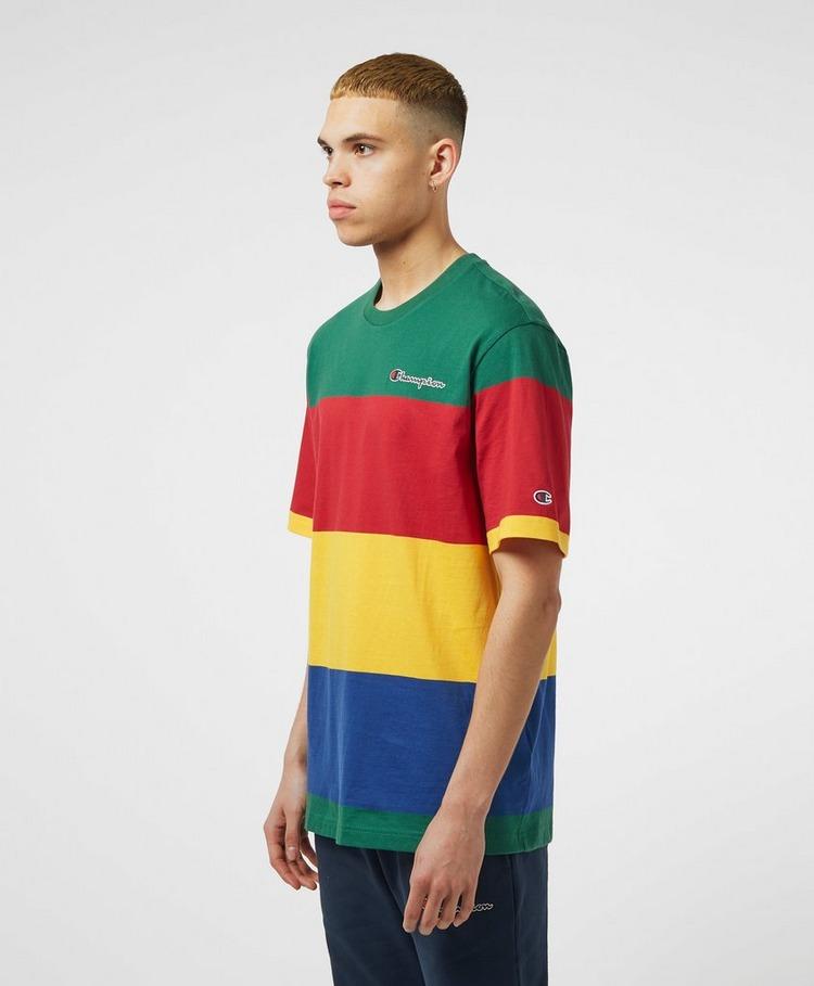 Champion Block Stripe Short Sleeve T-Shirt