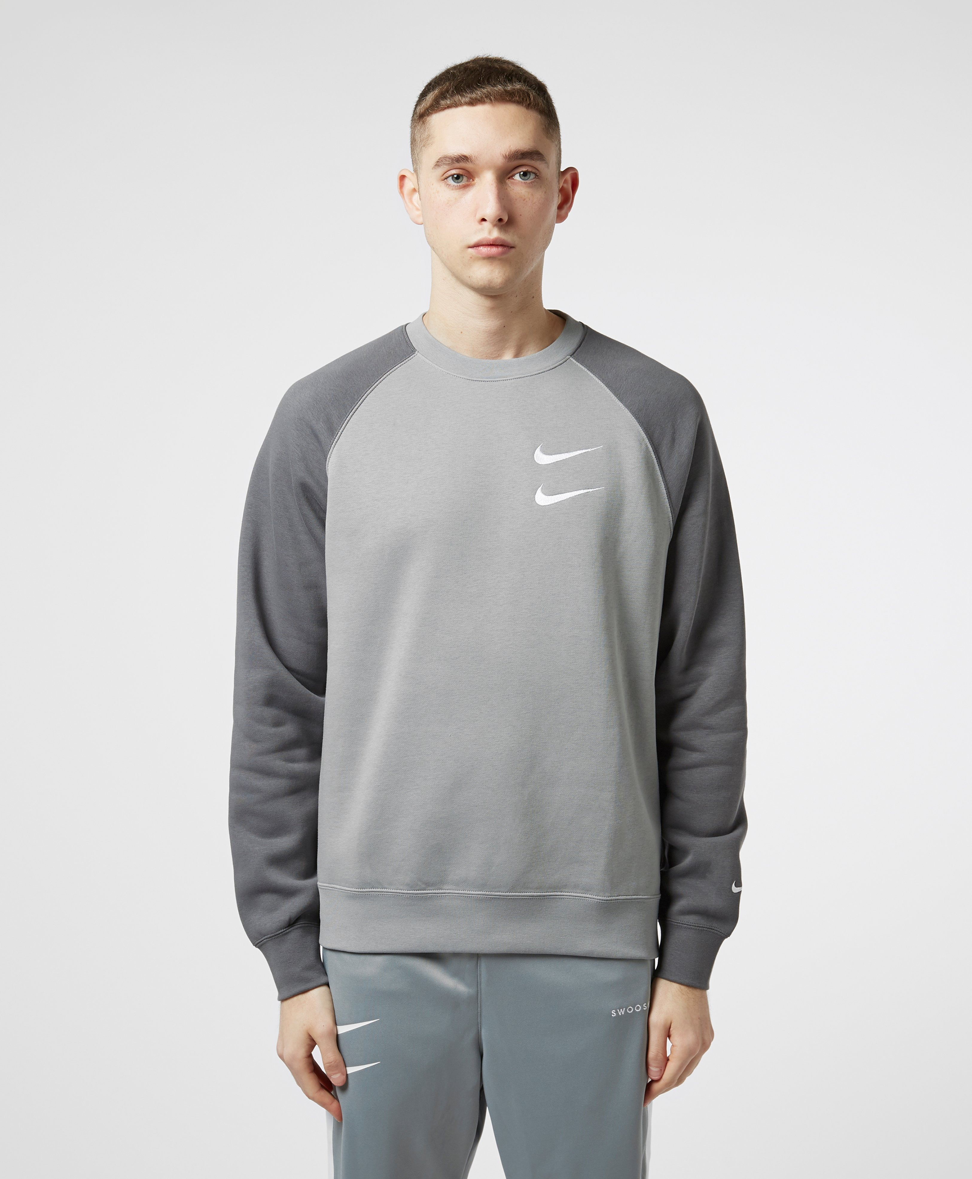 nike hoodie double swoosh