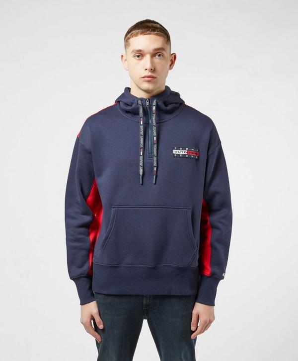 Tommy Jeans Outdoors Back Logo Half Zip Hoodie
