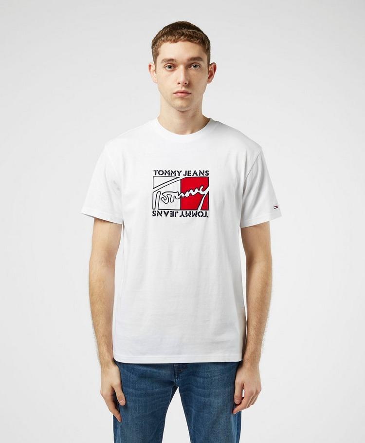 Tommy Jeans Flag Script Short Sleeve T-Shirt
