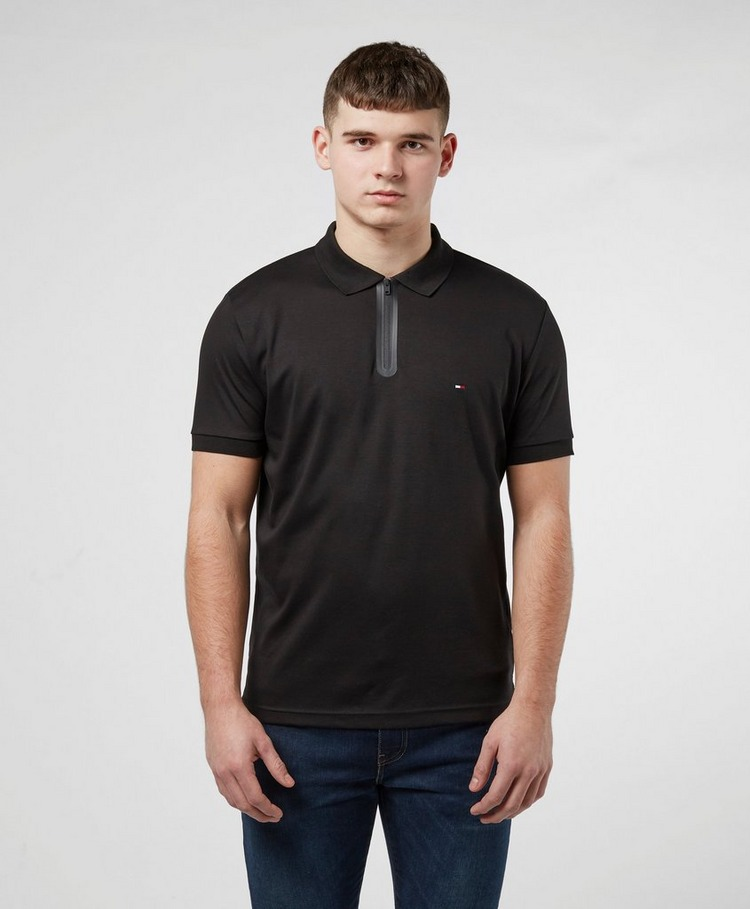 Tommy Hilfiger Zip Placket Short Sleeve Polo Shirt
