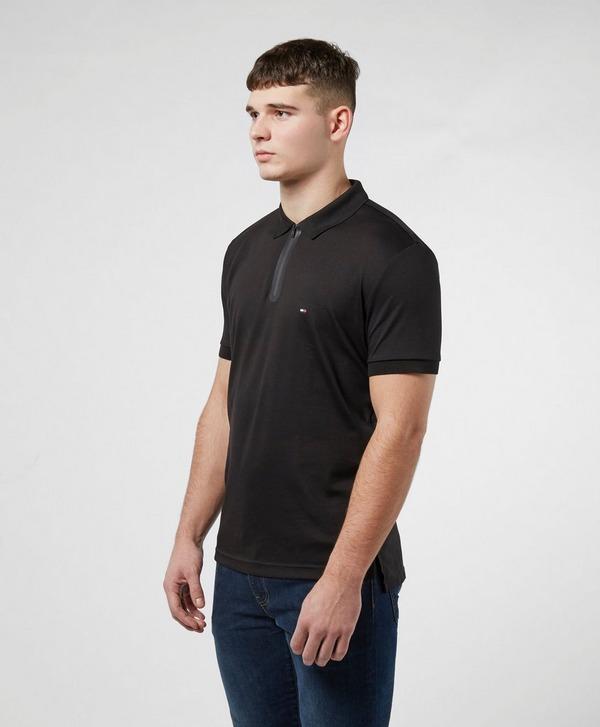 Tommy Hilfiger Zip Placket Short Sleeve Polo Shirt