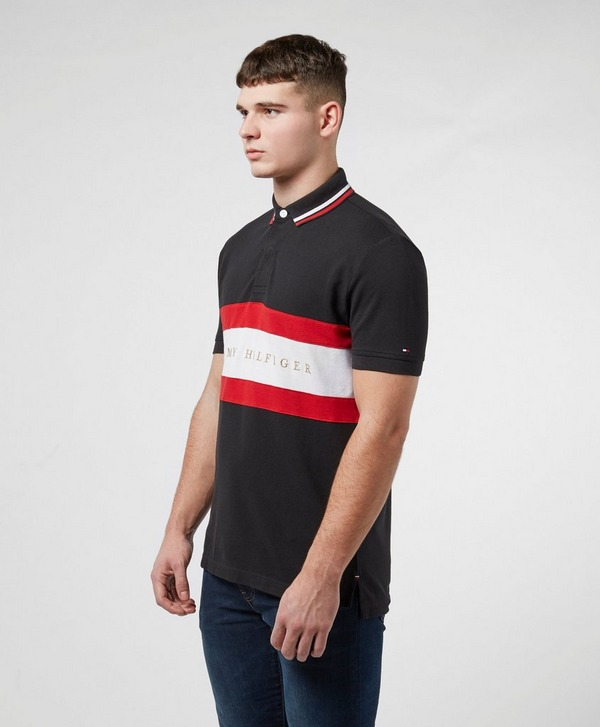 Tommy Hilfiger Chest Stripe Short Sleeve Polo Shirt