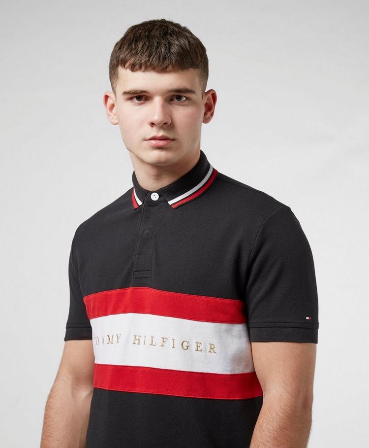 Tommy Hilfiger Chest Stripe Short Sleeve Polo Shirt
