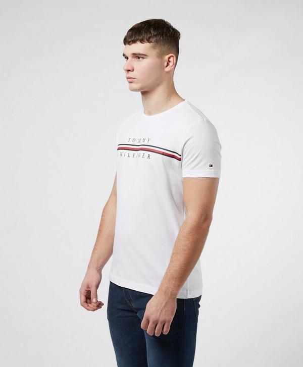 Tommy Hilfiger Stripe Logo Short Sleeve T-Shirt